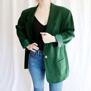 Kim Rogers Forest Green Blazer Size 18 100% Wool